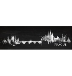 Silhouette chalk prague vector