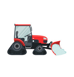 Snow tractor icon in flat style isolated on white vector