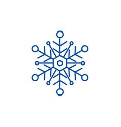 snowflake line icon concept snowflake flat vector image
