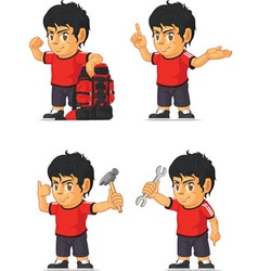 Soccer boy customizable mascot 11 vector