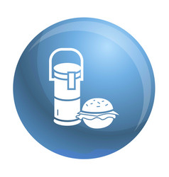 thermos drink burger lunch icon simple style vector image