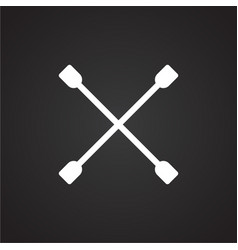 Tire wrench on black background vector