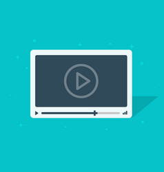 video player flat cartoon icon vector image