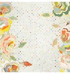 Vintage Floral Roses Background vector image