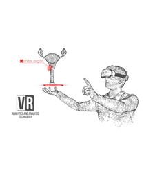 vr headset man with woman genitals organ vector image