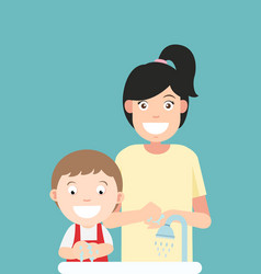 washing hands vector image
