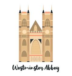 westmister abbey london famous landmark vector image