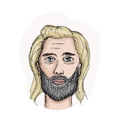 Young man avatar vector