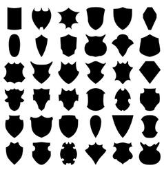 Black Shields vector image vector image