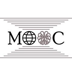 globe brain mooc vector image