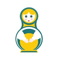 Russian doll - matryoshka vector image