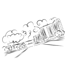 Sketch of cityscape for your design vector image
