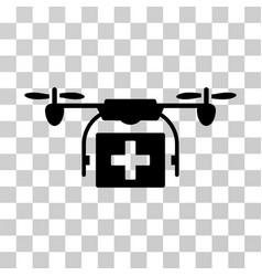 ambulance drone icon vector image