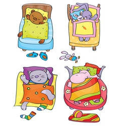 animals sleep vector image vector image