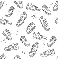 boots doodle seamles pattern vector image vector image