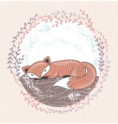 Cute little fox for children vector image vector image