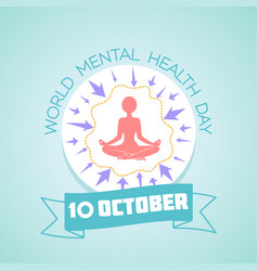 10 world mental health day vector image vector image