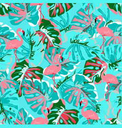 abstract flamingo pattern vector image
