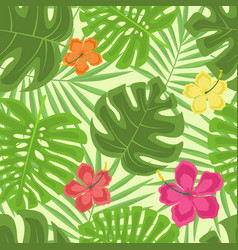 exotic seamless pattern vector image vector image