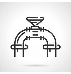 Industrial valve black line icon vector image