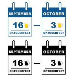 oktoberfest calendar vector image vector image