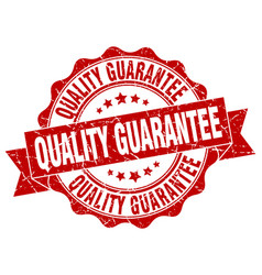 quality guarantee stamp sign seal vector image vector image