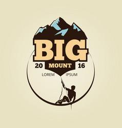 vintage mountain climbling logo - sport activity vector image