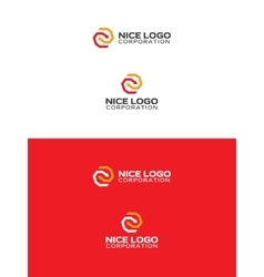arrows logo red and yellow color vector image vector image