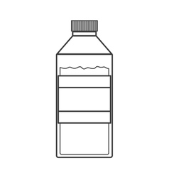 contour silhouette of bottle with liquid vector image