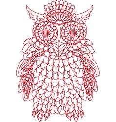 Decorative bird - owl is made of lace isolated vector image vector image