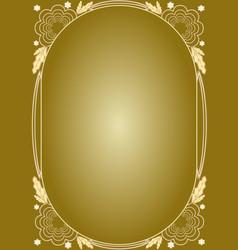 elegant luxury golden floral patterns frame in vector image