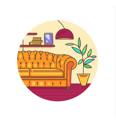 interior with furniture vector image