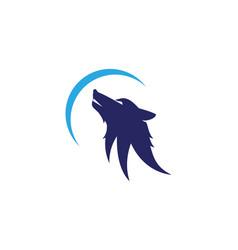 Wolf logo template vector