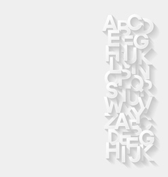 Abstract background with alphabet vector image