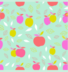 abstract pattern with apple vector image