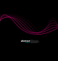 Abstract wave on black vector