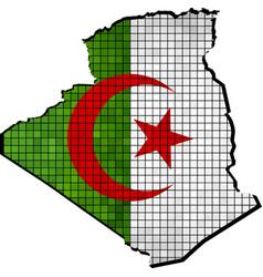 Algeria map with flag inside vector