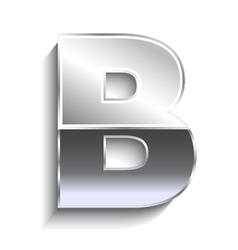 B Metal font vector image