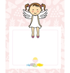 Baby girl with wings vector image