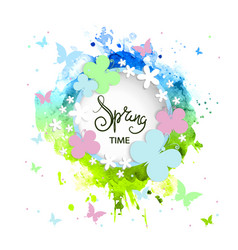beautiful spring background banner vector image