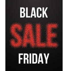 Black friday sale poster with blackwork vector