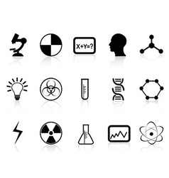 black science symbols vector image