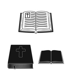 book and christian symbol vector image
