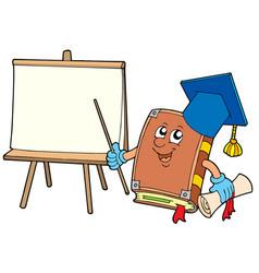 Book teacher with tablet vector