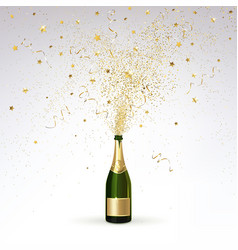 Champagne and gold confetti vector