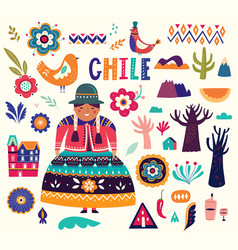 chile collection vector image