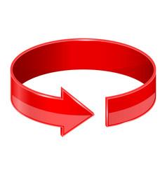Circular red arrow vector