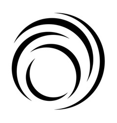 Circular swirl abstract geometric vortex logo vector