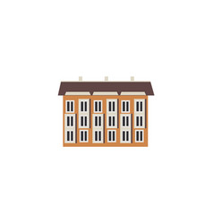 city element - three-storey apartment or public vector image