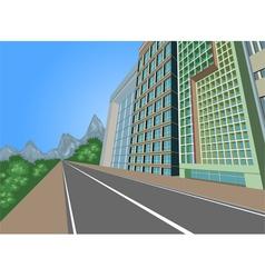 Cityscape scene vector